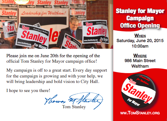 Stanley Campaign Office Opening!